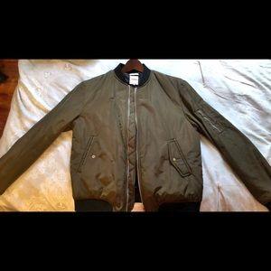 Zara Khaki Bomber Jacket